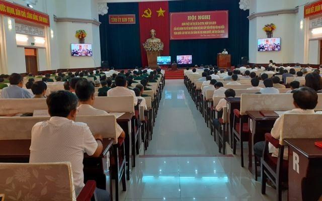 Hội nghị trực tuyến cấp tỉnh quán triệt các nghị quyết, chỉ thị của Bộ Chính trị, Ban Bí thư (điểm cầu Hội trường Ngọc Linh ngày 16-7-2019)